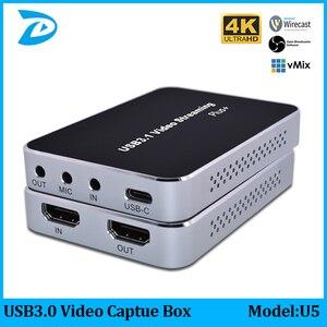 4K30 видео Захват HDMI к USB3.0 видео Захват карты ключ игра потоковое видео поток регистратор эфира адаптер может микрофон
