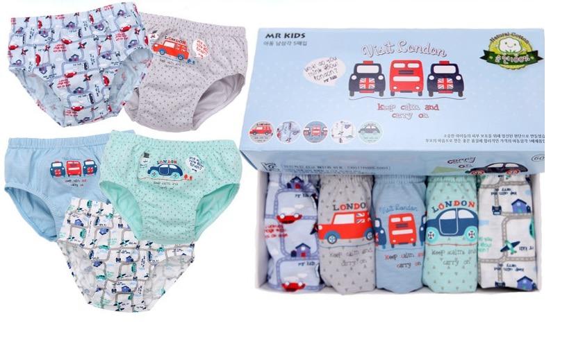 2018 Newest Promotion 5pc/lot Baby boy   Panties   London Bus Cotton Briefs for boys Car printing boys underwear Cartoon Print Brief