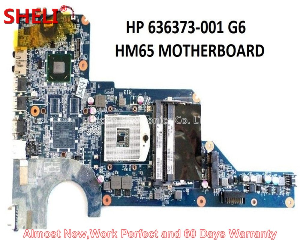 SHELI For HP Pavilion G4-1000 G4 G6 G7 Series Laptop Motherboard 636373-001 DA0R13MB6E0 HM65 UMA DDR3 Work Perfect High Quality sheli laptop motherboard for hp g4 g6 g7 650199 001 da0r13mb6e0 hm65 hd6470 1g non integrated graphic card