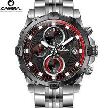 Marca de lujo men'swatchesmulti función sport reloj del cuarzo de moda de Lujo luminoso temporizador reloj resistente al agua 100 m CASIMA #8306