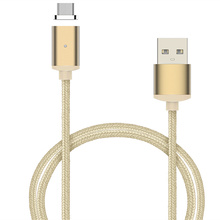 Nylon Magnetic Micro USB Adapter For iPhone Sync Wire Data Cable Fast Charging Both For iPhone Android For Lightning