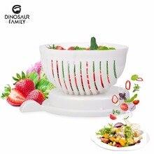Salad Cutter Bowl  In 60 Second Maker Easy Salad Fruit Vegetable Washer And Cutter Quick Salad Maker Chopper Kitchen tools