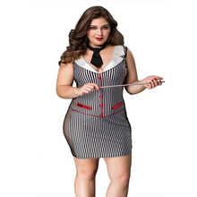 Women Erotic Costume Teacher Uniform Black And White Vertical Stripe Lingerie Role Play Costumes Sexy For Sex Games M242