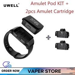 Originale Sistema di Uwell Amuleto Pod Vape Kit 370mah Con 2pcs 2ml 1.6ohm Cartucce del mondo primo orologio -stile Sigaretta Elettronica