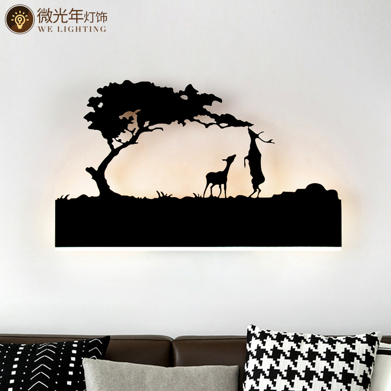 Black Acrylic Creative Modern Led Wall Light For Living Room Beside Room Bedroom Lamps LED Sconce Bathroom Wall Lamp LED Lustres - 4