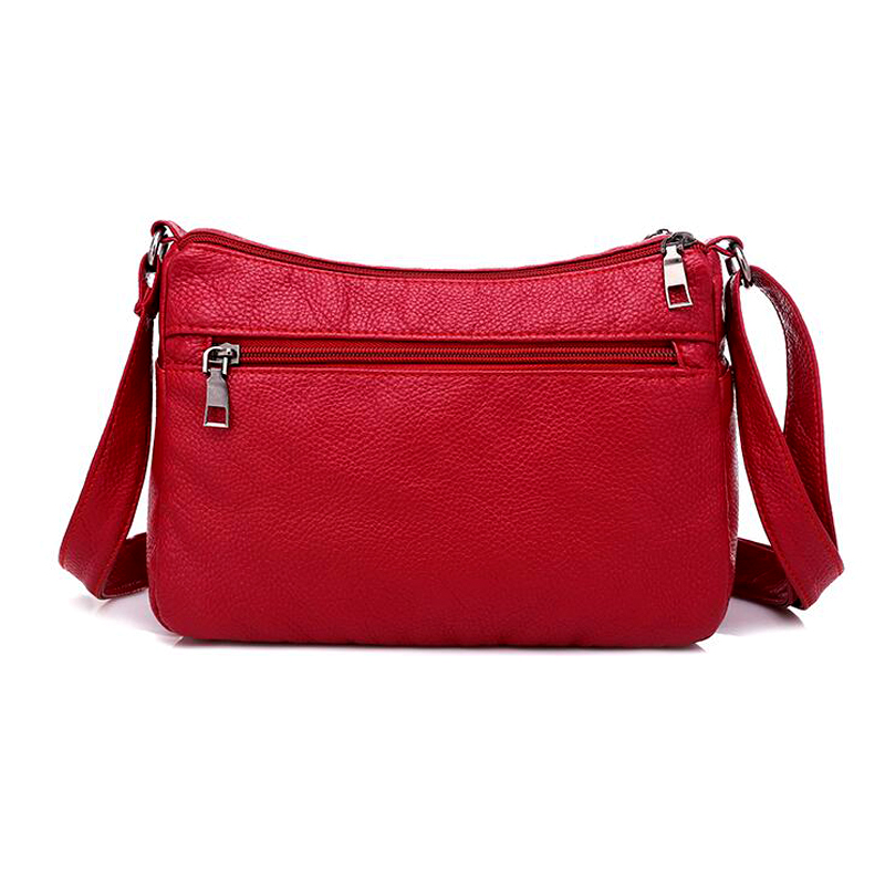 Image 5 - Annmouler Fashion Women Bag Pu Soft Leather Shoulder Bag Multi layer Crossbody Bag Quality Small Bag Brand Red Handbag Purse-in Shoulder Bags from Luggage & Bags