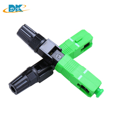 100PCS/lot SC APC Fast Connector Embedded FTTH Tool Cold High Quality SC/APC Optical Fiber