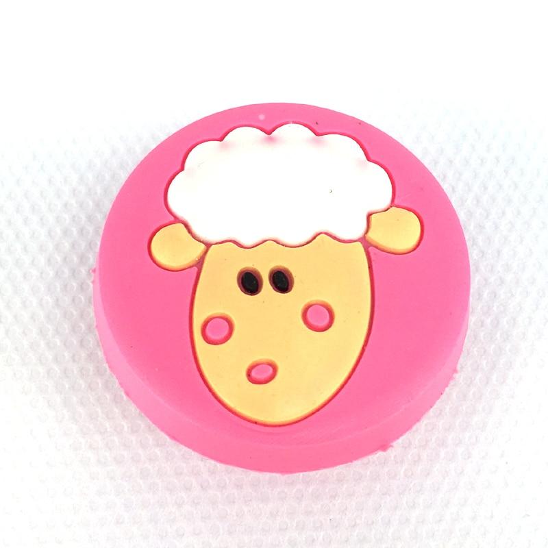 10pcs Soft Rubber Cartoon Drawer Wardrobe Cabinet Cupboard Kids Room Door Handles Knob Pink To Enjoy High Reputation In The International Market
