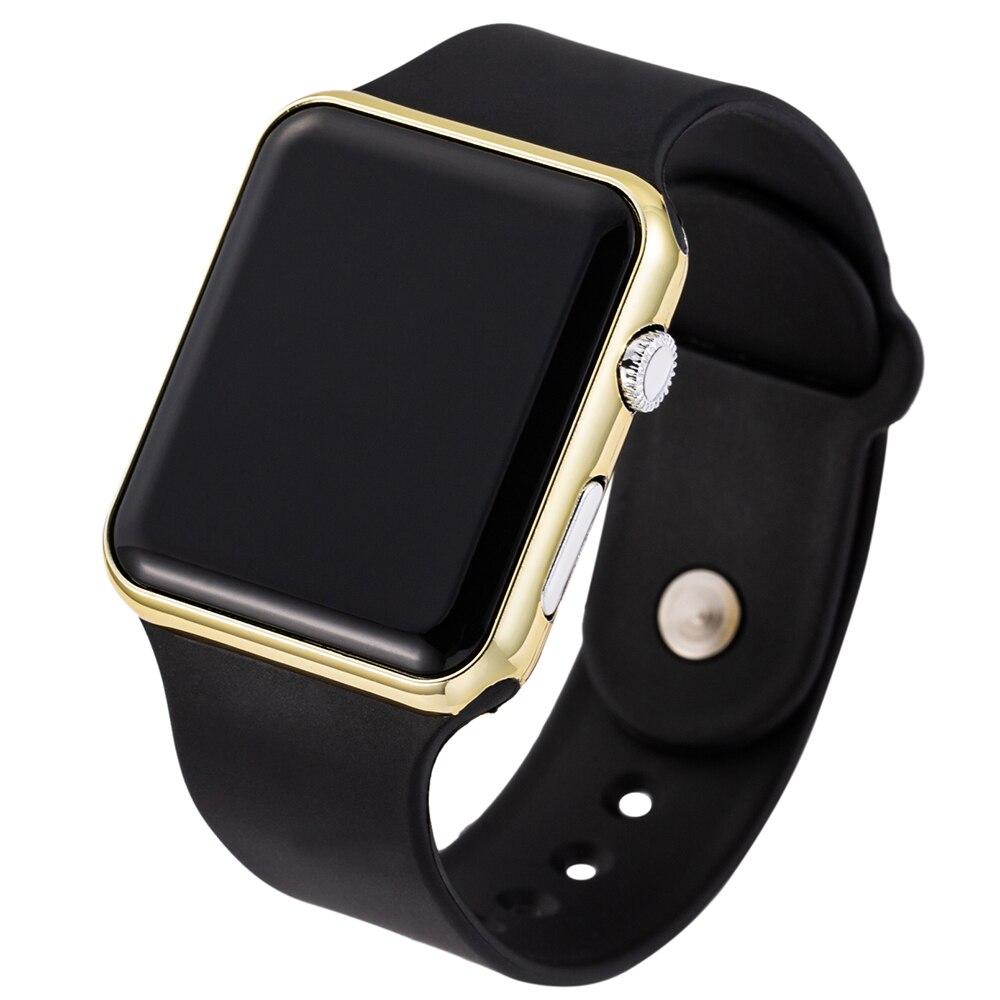 2019 nowy różowy Casual zegarki kobiety zegarek LED sportowy cyfrowy mężczyźni zegarek silikonowy kobiety zegarek Reloj Mujer Erkek Kol Saati 6