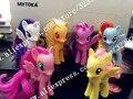 6 Шт./компл. Пластиковые Лошади Высокое качество Принцесса Селестия Луна верховая игрушка Фигурки ПВХ Куклы Летию Со Дня Рождения Подарок Для Детей игрушки