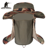 Insect Proofing Camouflage Bucket Hats, Military Mens hat, Mosquitoes Protection, Tactical Boonie Hats topee, One Size for 56-59