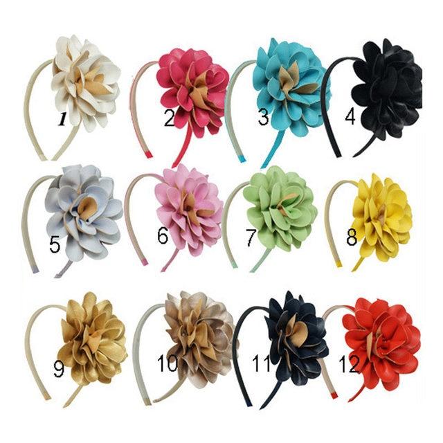 online shop boutique leather flowers hairband children