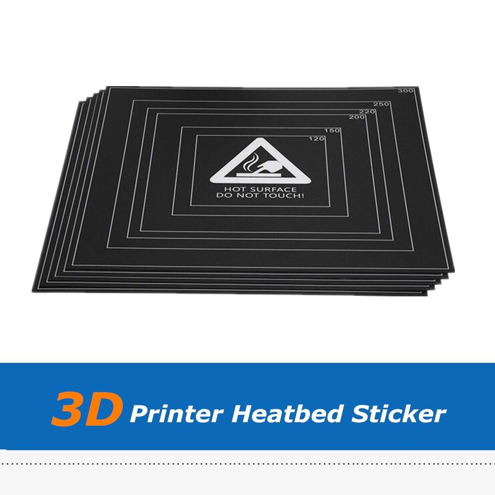 5 Pcs 3d Printer Deel 310*310*0.5mm Verwarmde Bed Lijm Broeinest Sticker Tape Film Met Draad Frame Voor Diy Snijden Complete Reeks Artikelen
