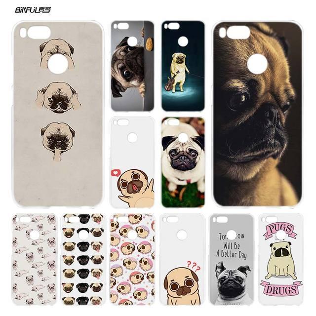 Pugs Não Drogas BiNFUL Bonito cães Limpar Cover Caso Coque para Xiaomi A1 5X Mi Redmi Nota 2 3 4X4 5 4A 5A além de