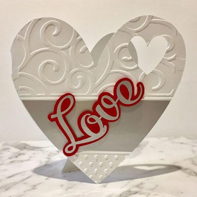 love heart pattern Cutting Dies Scrapbook Dies Metal for diy Scrapbooking paper craft  Embossing Stamps festival cards