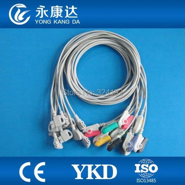 Compatible pour garniture II câble EKG monobloc sans résistance avec IEC, Grabber