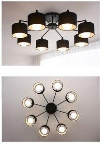 Image 5 - Plafonnier au design créatif moderne simpliste, éclairage dintérieur, luminaire dintérieur, en blanc, en noir, en or et en argent E27, luminaire décoratif de plafond, idéal pour un salon, LED