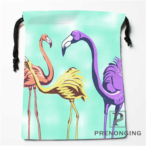 Custom Flamingo Drawstring Bags Printing Fashion Travel Storage Mini Pouch Swim Hiking Toy Bag Size 18x22cm 171203-6-4