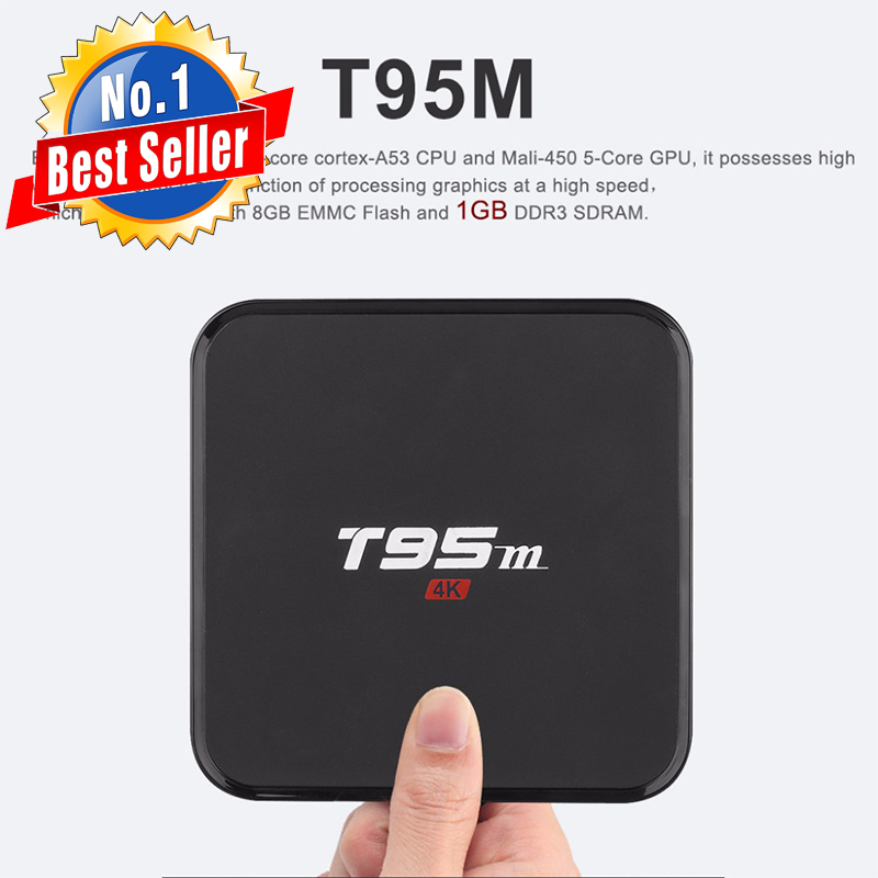 Russia Spedizione Gratuita Quad Core T95M Android 7.1 Smart TV Box 1 GB 8 GB UHD 2 K * 4 K Media Player