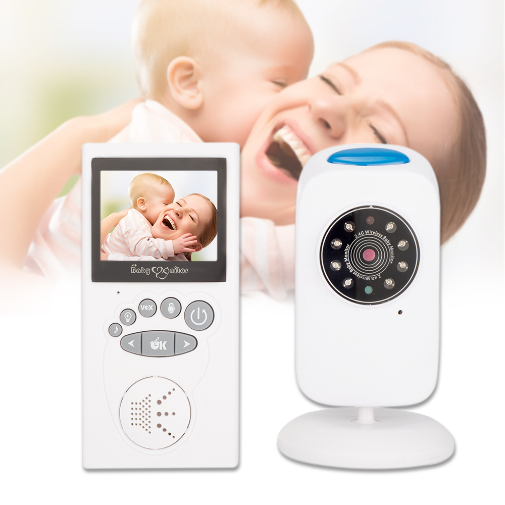 Shujin 2 4 inch LCD 2 4GHz Wireless Digital Video Baby Security Night Vision LED Temperature