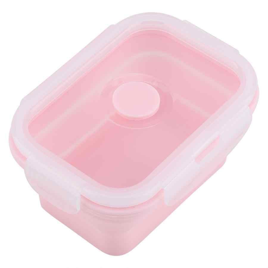 Casa BoxBento BoxLunch Almoço Caixas De Embalagens Caixa Recipiente de Alimento Do Piquenique Portátil 4 Tamanho Portátil Lancheira Silicone Dobrável