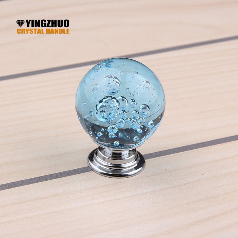 HOT sale 10PCS/LOT 30mm Crystal Glass Bubble Cupboard Door Drawer Knobs Ball Shape Cabinet Drawer Kitchen Pull Handle Cabinet css clear crystal glass cabinet drawer door knobs handles 30mm