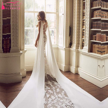 TANYA BRIDAL Sexy Illusion Back Wedding Dresses With Train