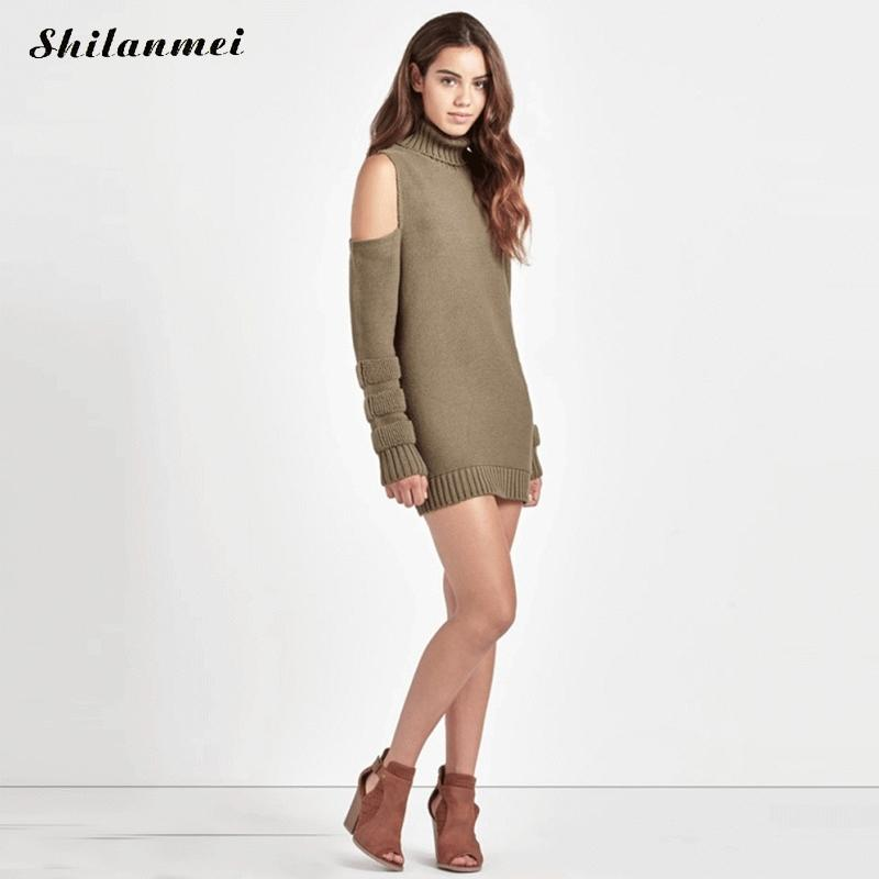 2017 New Arrival Winter Autumn Turtleneck Sweater Dresses Women Long Sleeve Jumpers Short Dress Pullover Sweater Korean Style