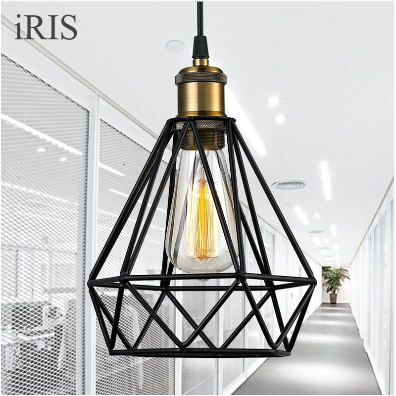 Edison Light Pendant Loft Retro Industrial Iron Vintage Pendant Lamp Fixture LED E27 loft industrial rust ceramics hanging lamp vintage pendant lamp cafe bar edison retro iron lighting
