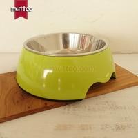 Высокое качество съемный противоскользящие из нержавеющей стали чистый зеленый цвет щенки чаша db-010