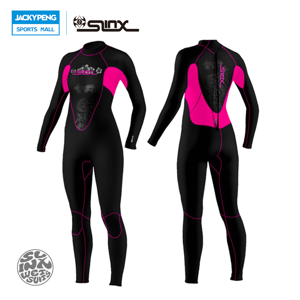 SLINX Swimwear Jumpsuit Wetsuit coral Women 3mm Neoprene Kite Surfing Snorkeling Spear Fishing Boating Scuba Diving Suit. slinx 1106 5mm neoprene scuba diving fleece lining wetsuit snorkeling surfing swimwear jumpsuit triathlon microvillus jellyfish