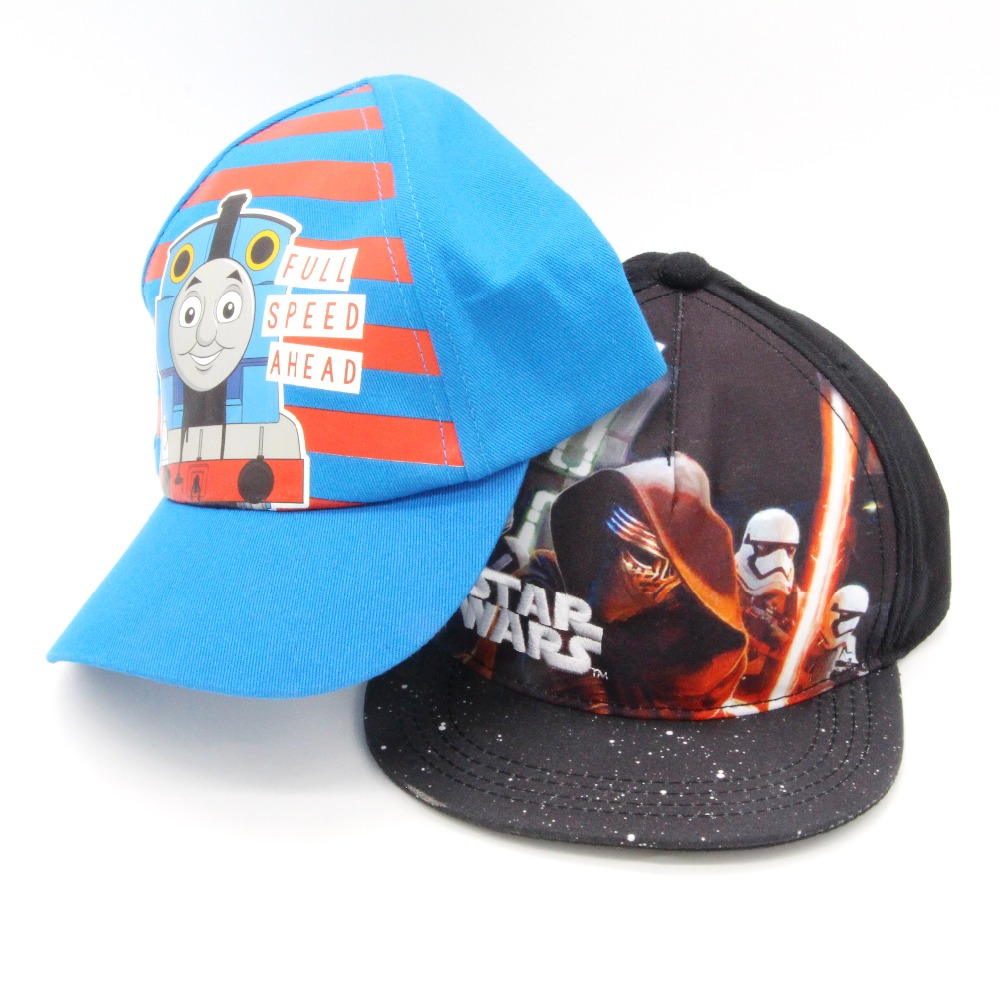 2018 SELLWORLDER 5 Styles Children Cartoon Character The Avengers & Spiderman & Star Wars   Baseball     Caps