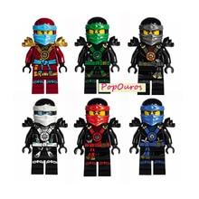 New Arrival Decool Ninja Minifigures DIY Ninja Educational Blocks For Kids Brick Toys 6pcs/lot