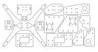 Tarantula Printer HE3D/ tarantula aluminum linear rail frame plate parts kit for Tarantula 3D printer part|3D Printer Parts & Accessories| |  -