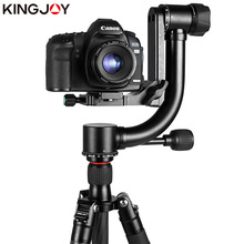 KINGJOY Official KH-6900/6900C Gimbal Head Professional Tripod Ball Head For DSLR Camera And 360 Degree Panoramic Fluid kingjoy kh 6750 flexible aluminum camera tripod head fluid video tripod head for canon nikon and other dslr cameras f20859
