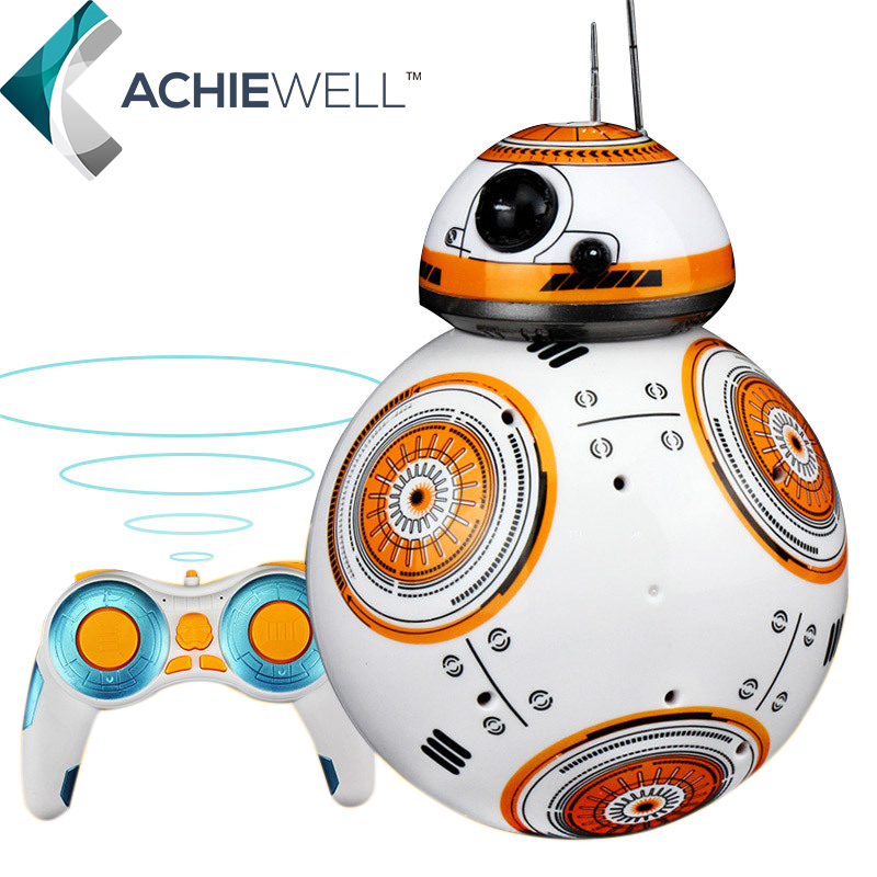 ФОТО Star Wars RC BB-8 Robot Star Wars 2.4G Remote Control BB8 Robot intelligent small ball Action Figure Plastic Toys For Boys Gift