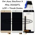 Черный/Белый/Золото 5.2 дюймов Для Asus ZenFone 3 Макс ZC520TL ЖК-Дисплей + Сенсорный Экран Замена Digitizer Ассамблеи + бесплатные Инструменты,
