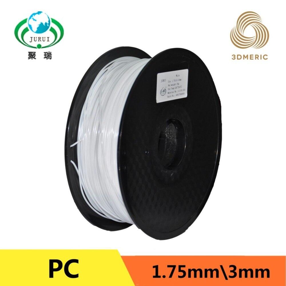 Høy styrke, høy seighet, høy gjennomsiktighet 3D DIY-printerfilament Polykarbonat PC-materiale 3D-utskrift filament