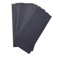 Abrasivo seco mojado lija impermeable hojas de grano de 400/600/800/1000/1200/1500 para muebles pasatiempos y casa