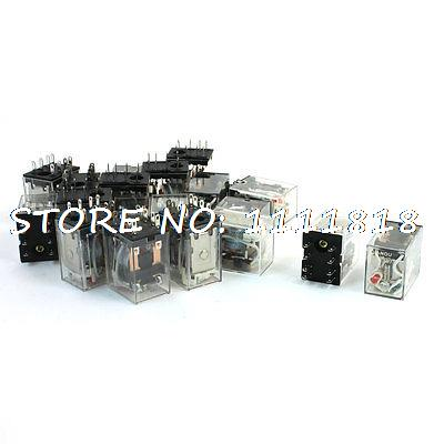 цена на 20pcs HH52P MY2J AC 110/120V Coil DPDT 8 Pin Electromagnetic Power Relay