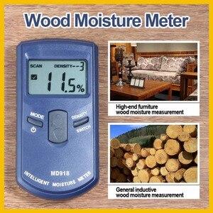 Image 2 - RZ Inductive Wood Timber Moisture Meter Hygrometer Digital Electrical Tester Measuring tool MD918 4~80% Density electromanetic