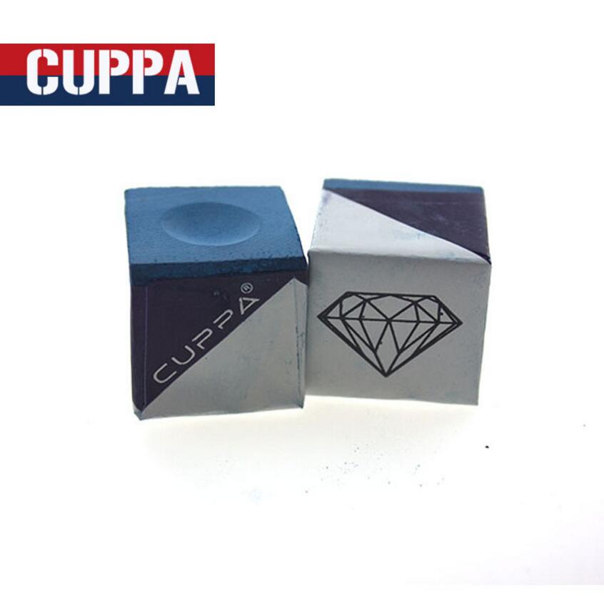 New Arrival Cuppa 2 Pcs/lot Oily Billiard Chalk Blue Billiard Accessories Professional High Quality Handmade China 2019