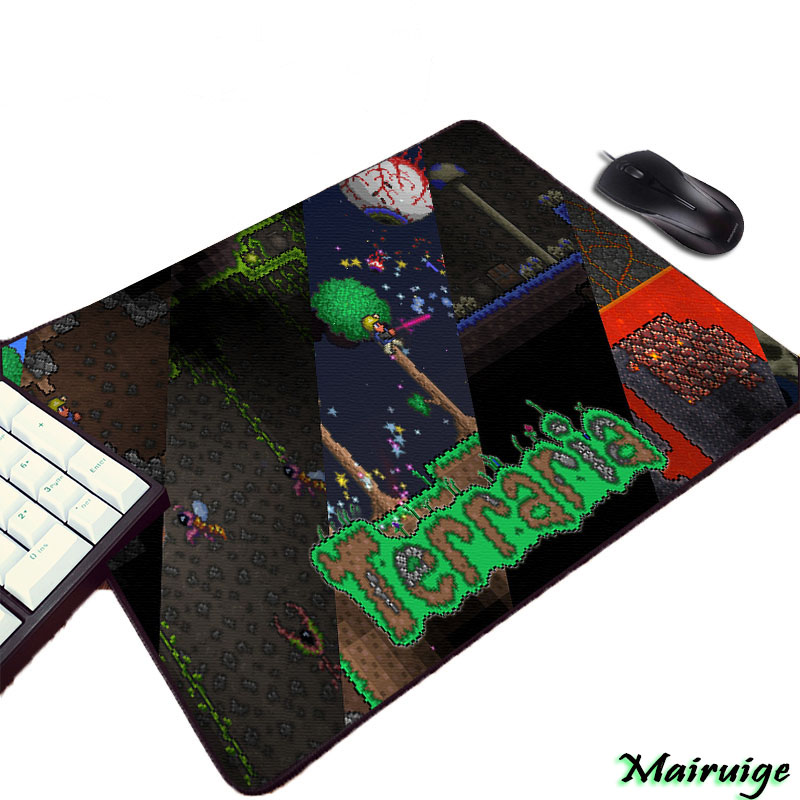 Mairuige Terraria Video Game Computer Gaming Mousepad Small Size Mini Pc Computer Gamer Play Table Mouse Mat Pad To Keyboard