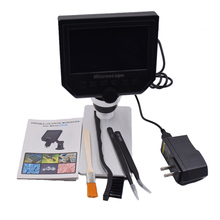 Buy 1-600x 3.6MP USB Digital Electronic Microscope Portable 8 LED VGA Microscope With 4.3″ HD OLED Screen for pcb motherboard repair