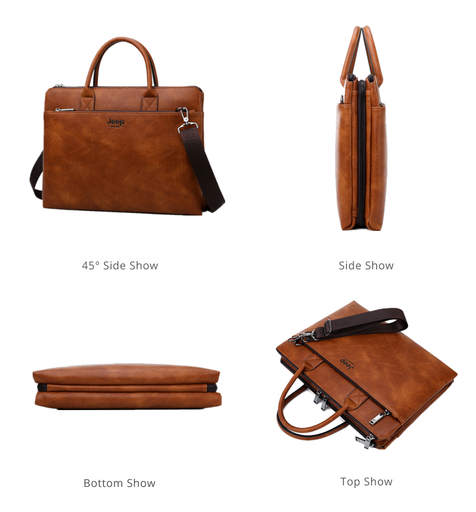 HTB1TrXzRAzoK1RjSZFlq6yi4VXah JEEP BULUO Brand High Quality 14 inch Laptop Business Bags Men Briefcases Set For Handbags Leather Office Large Capacity Bags