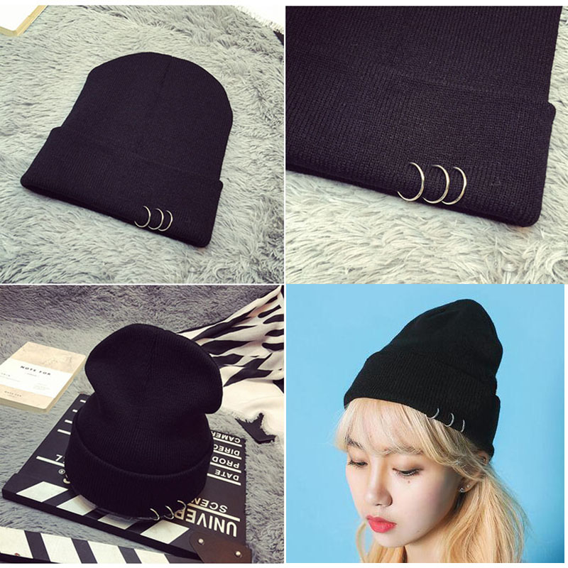 Fashion Women Men Hats Beanies Skullies Wool Knitted Hat Unisex Casual Cap Thick Female Woolen Hat Gorro Beanies Hip-hop Hat 101 wool skullies cap hat 10pcs lot 2289