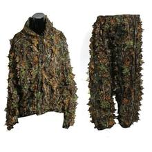 ELOS-Polyester Duurzaam Outdoor Woodland Sniper Ghilliekostuum Kit Mantel Militaire 3D Leaf Camouflage Camo Jungle Jacht Birding(China)