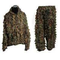 ELOS-Poliestere Durable Outdoor Woodland Cecchino Ghillie Suit Kit Mantello Militare 3D Leaf Camouflage Jungle Camo Caccia Birding