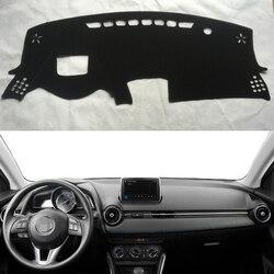 Dla Mazda Cx-3 Mazda2 Demio Scion IA Toyota 2014-2019 pokrowce do stylizacji samochodu Dashmat mata na deskę rozdzielczą parasol przeciwsłoneczny pokrywa deski rozdzielczej dywan