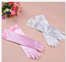 Cartoon Girls Long Gloves Elsa Princess Girls Ladies Fancy Gloves Christmas Birthday Children Kids Gift Kids Party Gloves